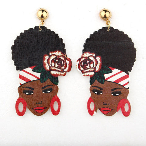 African flower girl eardrop earring,- Aesthetic best website to buy quality replica ua adidas yeezy boost 350 v1 and v2 sneakers