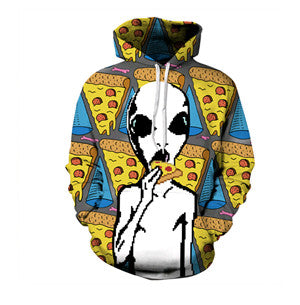 Alien pizza Hoodie,- Aesthetic best website to buy quality replica ua adidas yeezy boost 350 v1 and v2 sneakers