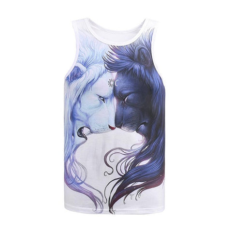 Abstract Lion Unisex Tanktop,- Aesthetic best website to buy quality replica ua adidas yeezy boost 350 v1 and v2 sneakers