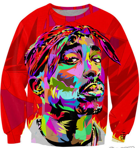 2pac Multi color Sweatshirt,- Aesthetic best website to buy quality replica ua adidas yeezy boost 350 v1 and v2 sneakers