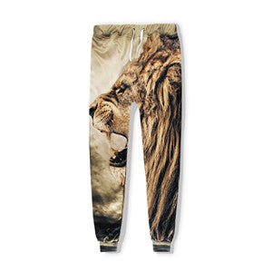 Roaring Lion Joggers,- Aesthetic rave party cool clotheS APPAREL replica yeezy shoes