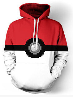 Pokemon Ball Hoodie,- Aesthetic rave party cool clotheS APPAREL replica yeezy shoes