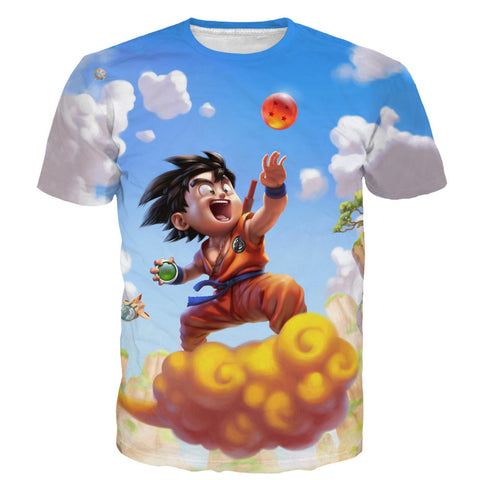 Kid goku DBZ tshirt,- Aesthetic best website to buy quality replica ua adidas yeezy boost 350 v1 and v2 sneakers