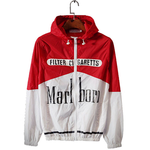 Marlboro Windbreaker hOOdie,- Aesthetic best website to buy quality replica ua adidas yeezy boost 350 v1 and v2 sneakers