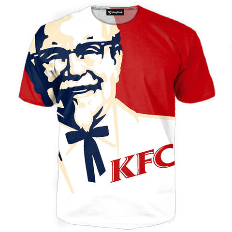 KFC tshirt,- Aesthetic best website to buy quality replica ua adidas yeezy boost 350 v1 and v2 sneakers