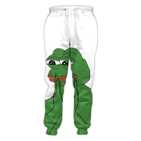 Pepe Meme Joggers,- Aesthetic rave party cool clotheS APPAREL replica yeezy shoes