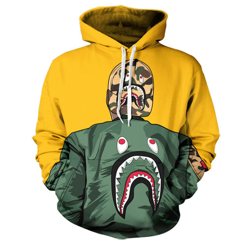 BAPE Life Hoodie (yellow),- Aesthetic best website to buy quality replica ua adidas yeezy boost 350 v1 and v2 sneakers