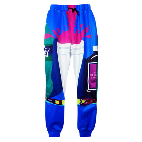 Blue dirty sprite sweatpants,- Aesthetic rave party cool clotheS APPAREL replica yeezy shoes