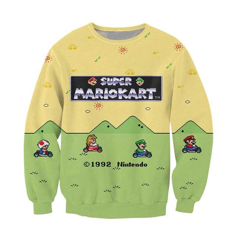 MarioKart Sweatshirt,- Aesthetic best website to buy quality replica ua adidas yeezy boost 350 v1 and v2 sneakers
