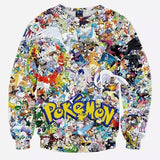 Pokemon cluttered sweatshirt,- Aesthetic rave party cool clotheS APPAREL replica yeezy shoes