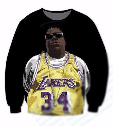 Biggie smalls X lakers Sweatshirt,- Aesthetic rave party cool clotheS APPAREL replica yeezy shoes