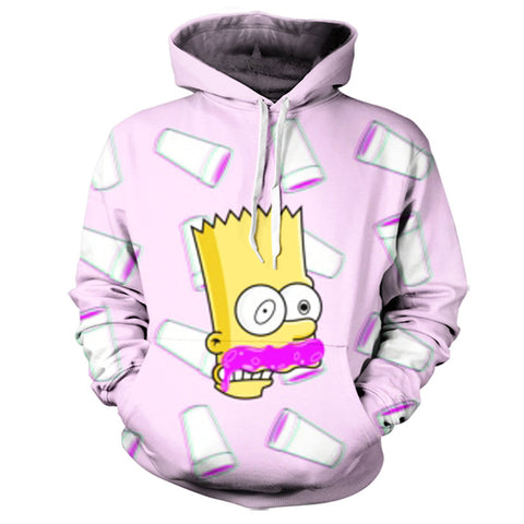 Bart On Lean Hoodie,- Aesthetic best website to buy quality replica ua adidas yeezy boost 350 v1 and v2 sneakers