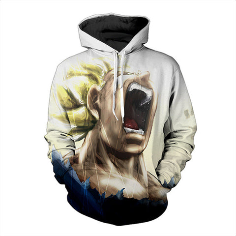 Shouting Dragon Ball Z Super Saiyan Hoodie,- Aesthetic rave party cool clotheS APPAREL replica yeezy shoes