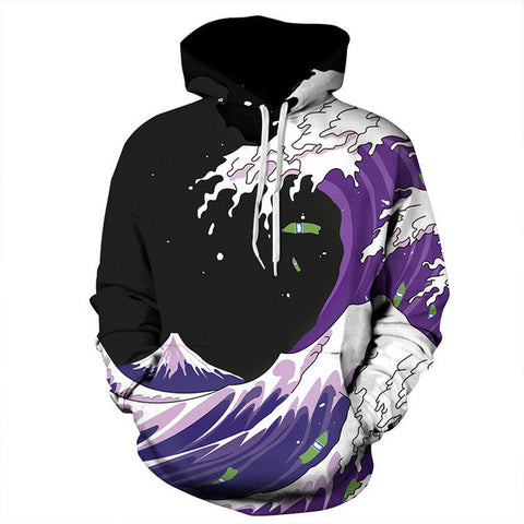 Purlple waves sizzurp Unisex Hoodie,- Aesthetic rave party cool clotheS APPAREL replica yeezy shoes