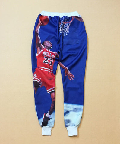 Blue Basketbal Micheal Jordan MJ Joggers,- Aesthetic rave party cool clotheS APPAREL replica yeezy shoes