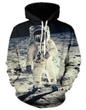 Astronaut on the moon Hoodie,- Aesthetic best website to buy quality replica ua adidas yeezy boost 350 v1 and v2 sneakers