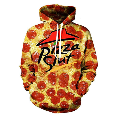 Pizza slut hoodie,- Aesthetic rave party cool clotheS APPAREL replica yeezy shoes