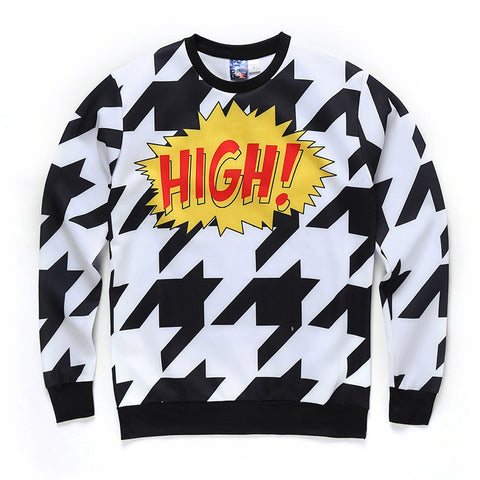 "Kwow ""High!"" Aesthetic Sweatshirt,- Aesthetic best website to buy quality replica ua adidas yeezy boost 350 v1 and v2 sneakers"