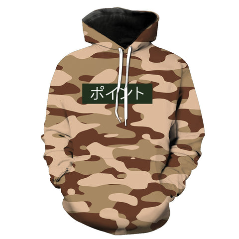 Camo ''Dope'' Hoodie,- Aesthetic rave party cool clotheS APPAREL replica yeezy shoes