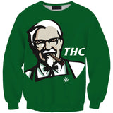 KFC THC Unisex Sweatshirt,- Aesthetic best website to buy quality replica ua adidas yeezy boost 350 v1 and v2 sneakers