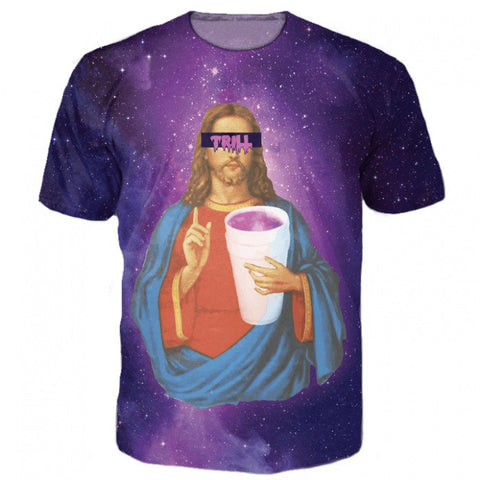 Trill Jesus tee,- Aesthetic best website to buy quality replica ua adidas yeezy boost 350 v1 and v2 sneakers