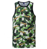 Camo Gunz blazing Tank top,- Aesthetic best website to buy quality replica ua adidas yeezy boost 350 v1 and v2 sneakers