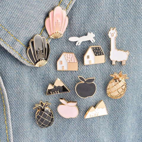 12 cute metal enamel pin set,- Aesthetic best website to buy quality replica ua adidas yeezy boost 350 v1 and v2 sneakers