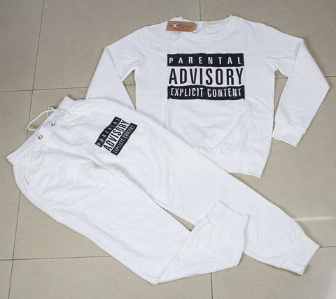 FULL SET parental advisory explicit content tracksuit (unisex),- Aesthetic best website to buy quality replica ua adidas yeezy boost 350 v1 and v2 sneakers