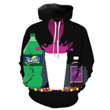 Black dirty sprite hoodie,- Aesthetic best website to buy quality replica ua adidas yeezy boost 350 v1 and v2 sneakers