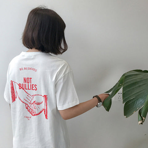 "ANTI-BULLING Awareness tshirt ""Be friend...Not Bullies"",- Aesthetic best website to buy quality replica ua adidas yeezy boost 350 v1 and v2 sneakers"