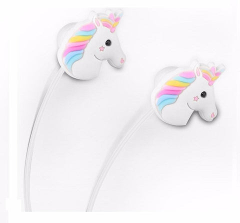 Rainbow UNICORN PONY  SUPER BASE  In-ear Earphones with smart Noise Reduction 3.5mm Earbuds For smartphones, tabs and mp3/4 players