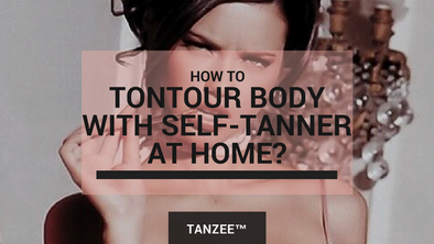 Tontouring (Contouring) body with self-tanner at home