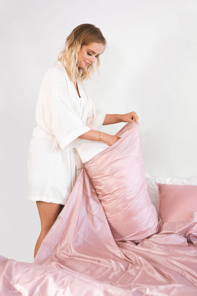 Rose Gold Tanzee | Self Tan Bed Sheet Protector