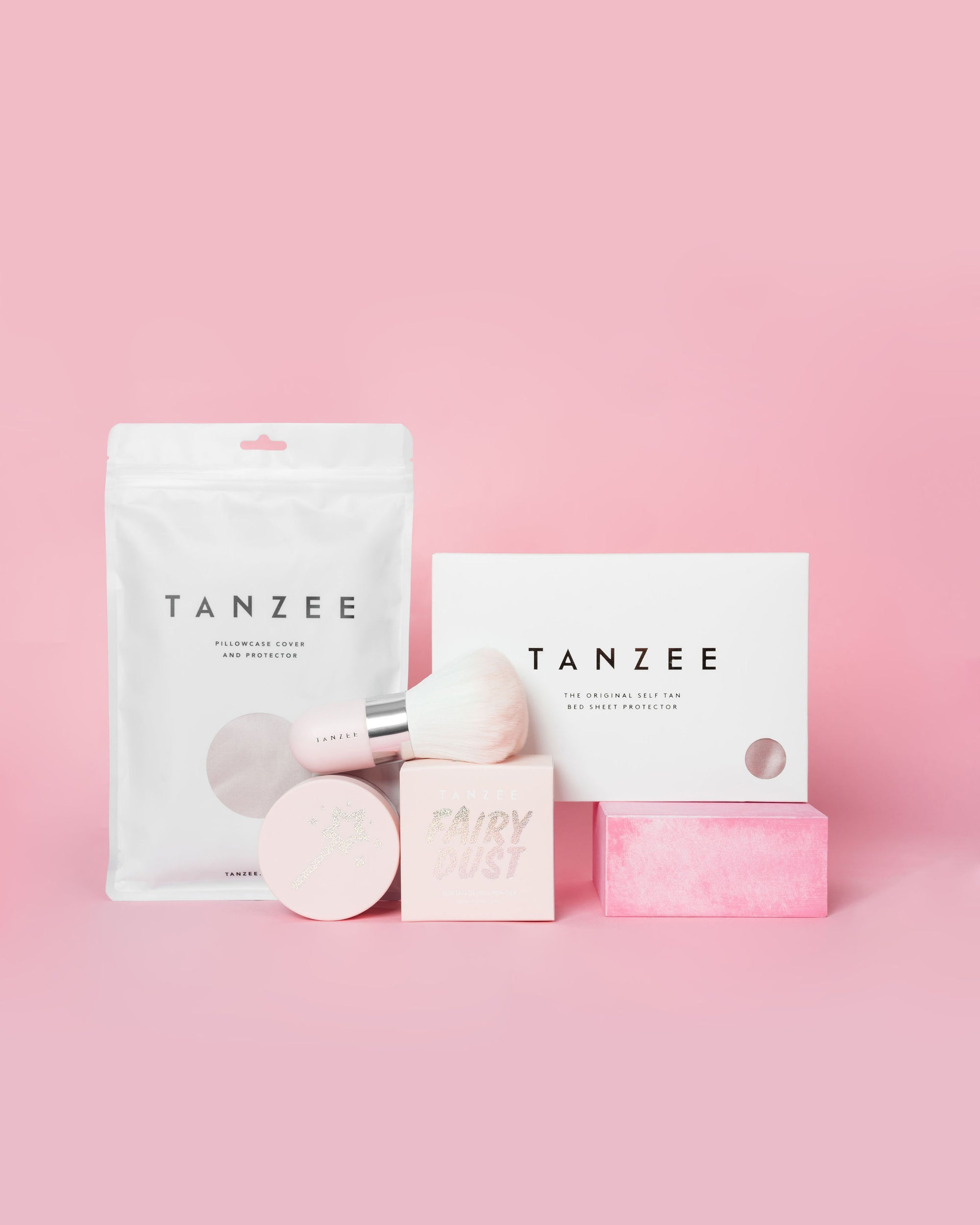 Luxury Tanning Bundle - Tanzee + Fairy Dust + Tanuki brush + Pillowcase (Save 15%)