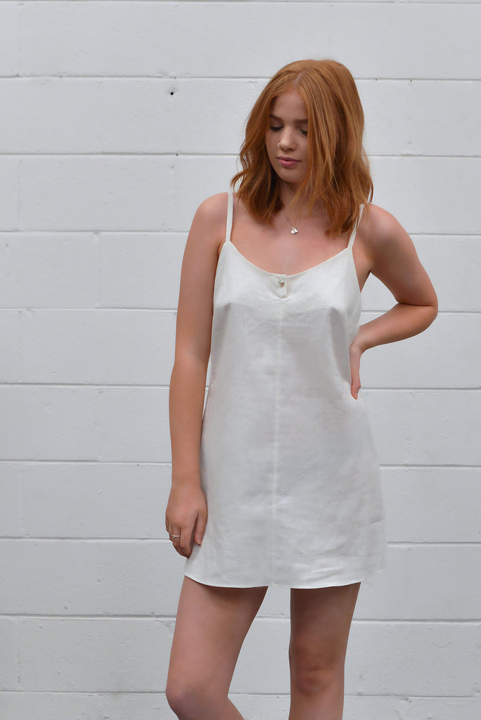 Slip Dress in Natural White
