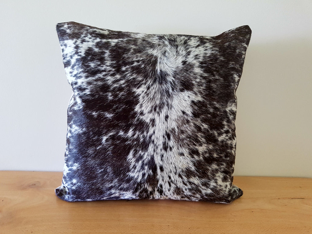 Brown and White Cowhide Cushion 45cm