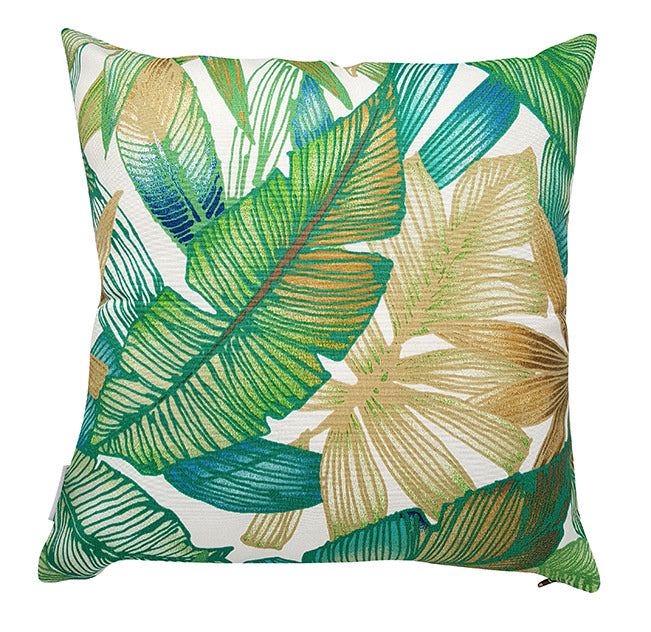 This bright and alluring outdoor cushion cover is the perfect addition to brighten up any area