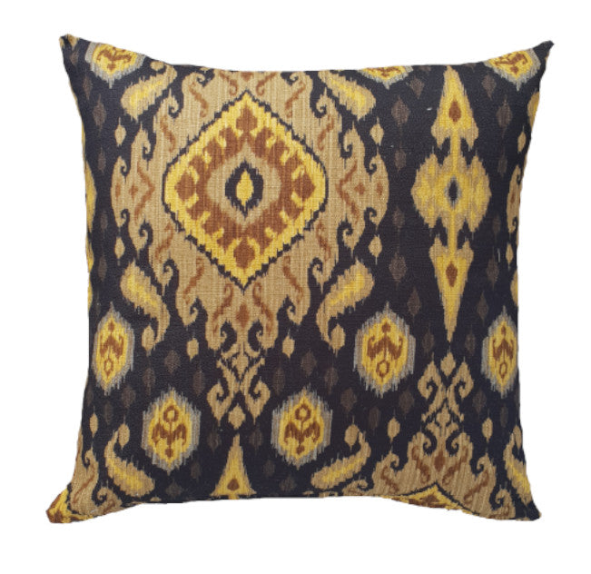 Black and Gold Moroccan Indoor Cushion Cover