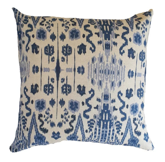 Denim Indian Damask Indoor Cushion Cover