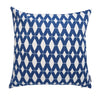 Gorgeous blue and white geometric hamptons weave indoor cushion cover