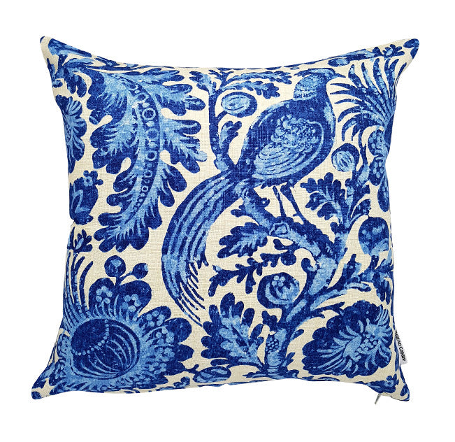 Gorgeous blue bird hamptons style indoor cushion cover