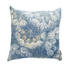 Blue denim flowers indoor cushion cover