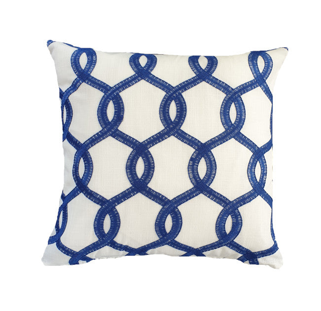 Blue Nautical Rings Indoor Cushion Cover