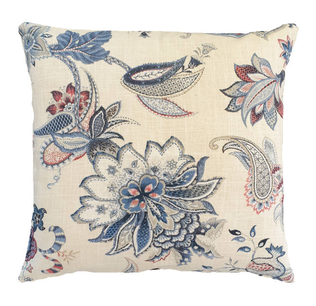 Denim Floral Indoor Cushion Cover