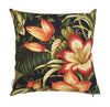 Beautiful floral ebony glow outdoor cushion cover
