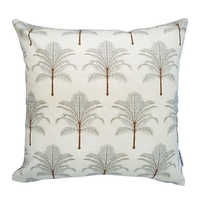 Tommy Bahama Golden beige palms indoor cushion cover