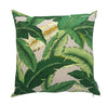 Tropical green palms with slate background outdoor cushion cover