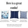 Tommy Bahama Blue and White Palms Outdoor Cushion Cover