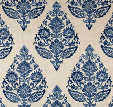 Antique Blue Damask Indoor Cushion Cover