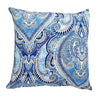 Beautiful blues damask indoor cushion cover